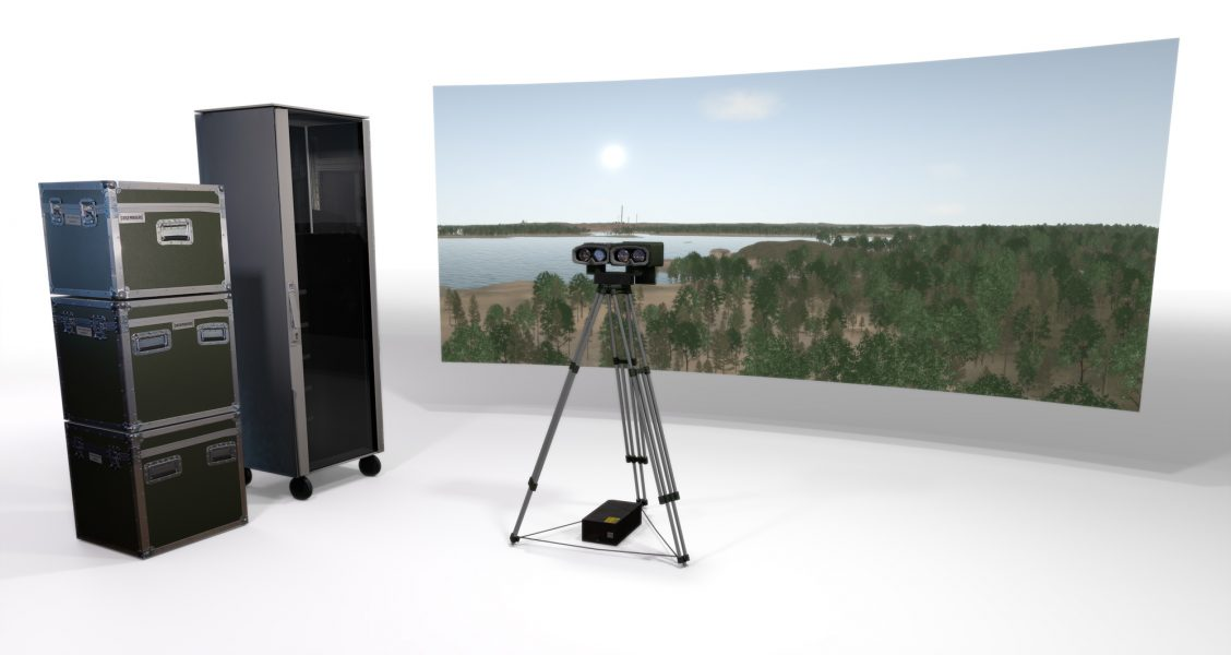 surveillance and fire control training simulator